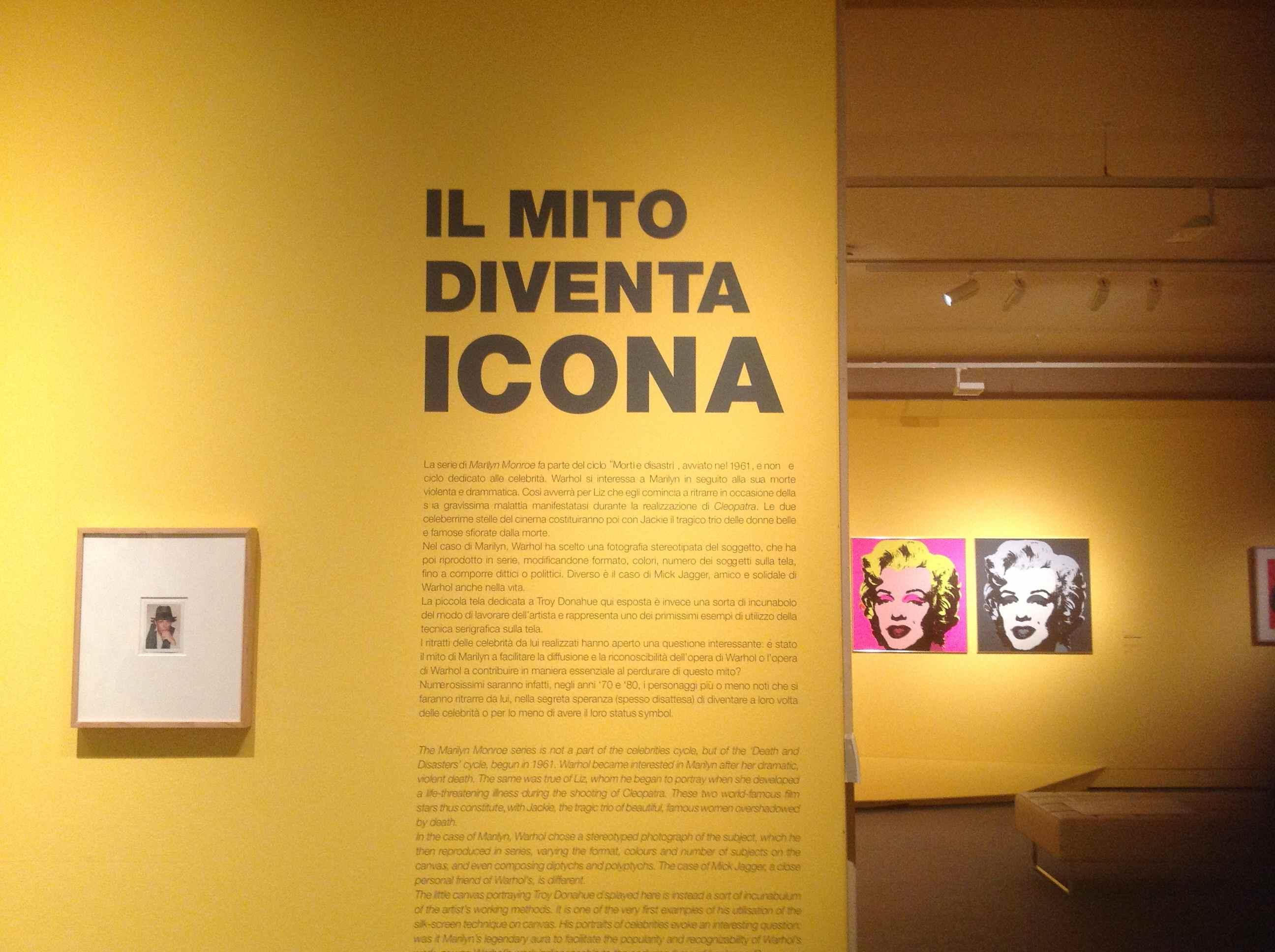 Andy Warhol una sala della mostra a Pisa