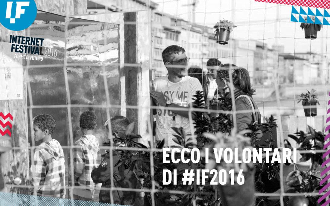 Ecco i Volontari di #IF2016