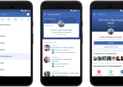 FACEBOOK UNVEILS CRISIS RESPONSE SECTION FOR INFORMATION ON DISASTERS