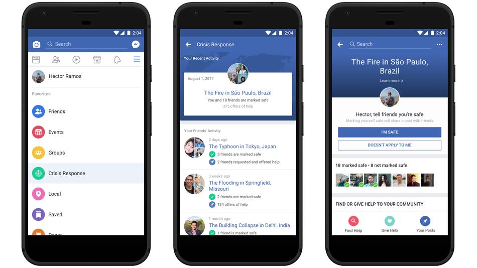 Facebook inaugura la sezione Crisis Response per informare sui disastri